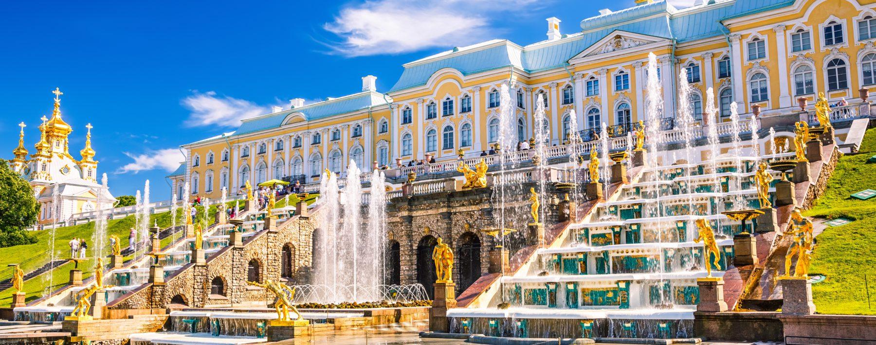 Grand Cascade in Peterhof, St Petersburg
