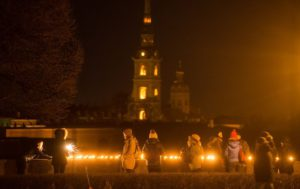 Earth Hour in St.Petersburg