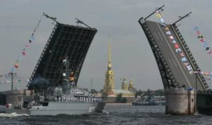 NAVAL PARADE IN ST.PETERSBURG