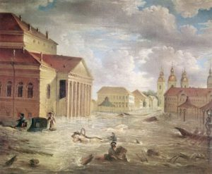 THE FIRST FLOOD IN ST.PETERSBURG